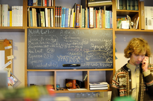Menu on the black board. Credits Mint Vinetu