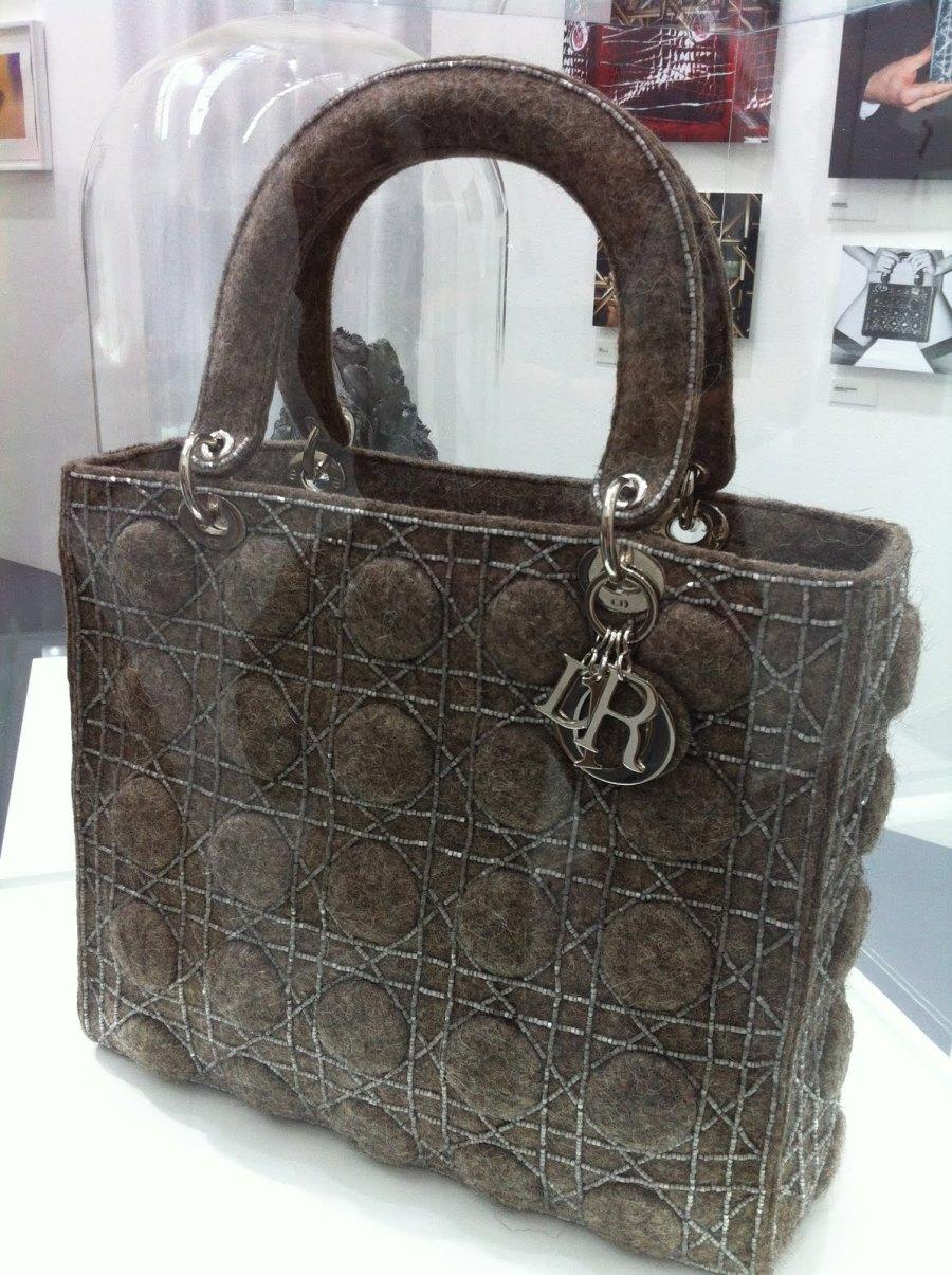 Lady Dior Bag as seen by Olga Soldatova. Bag Valenok for Russian winters. Credits Vaida K.