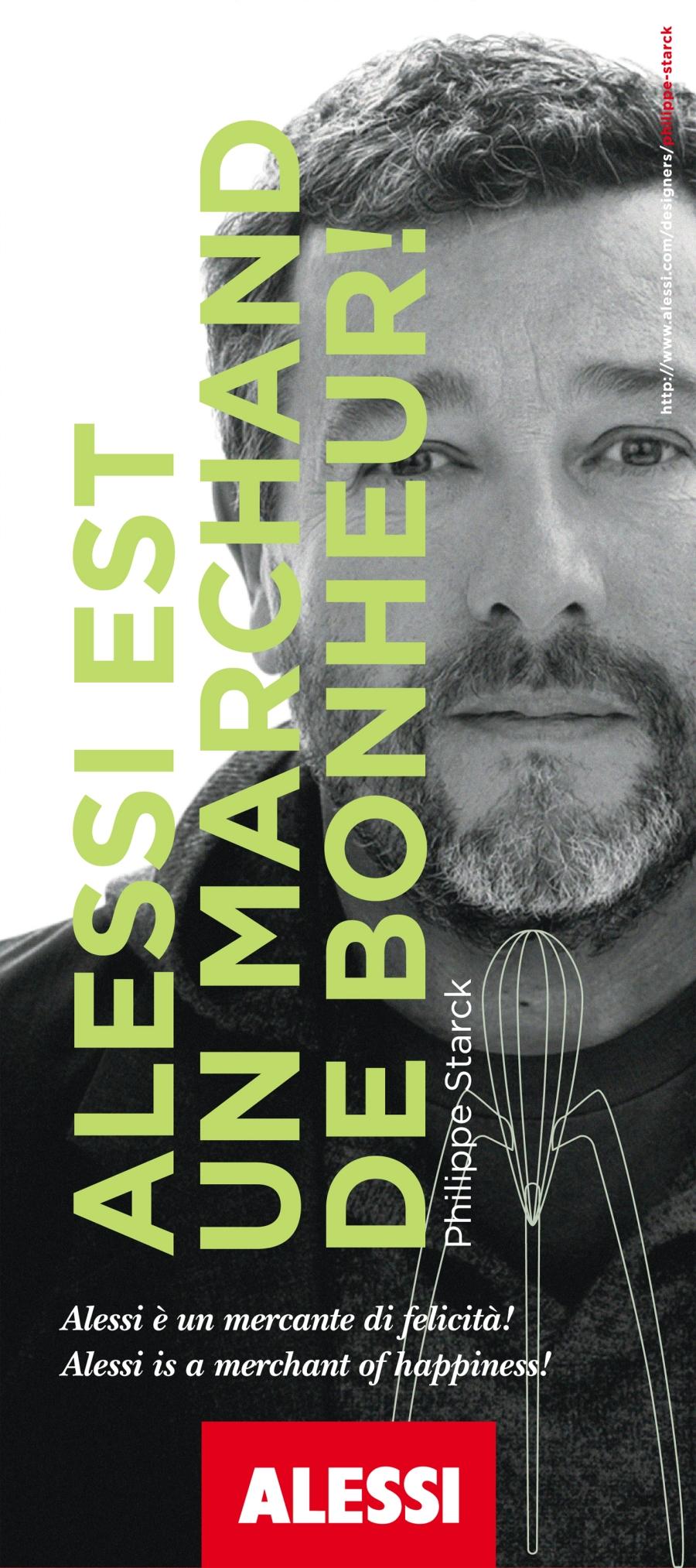 Philippe Starck, designer. Credit Alessi