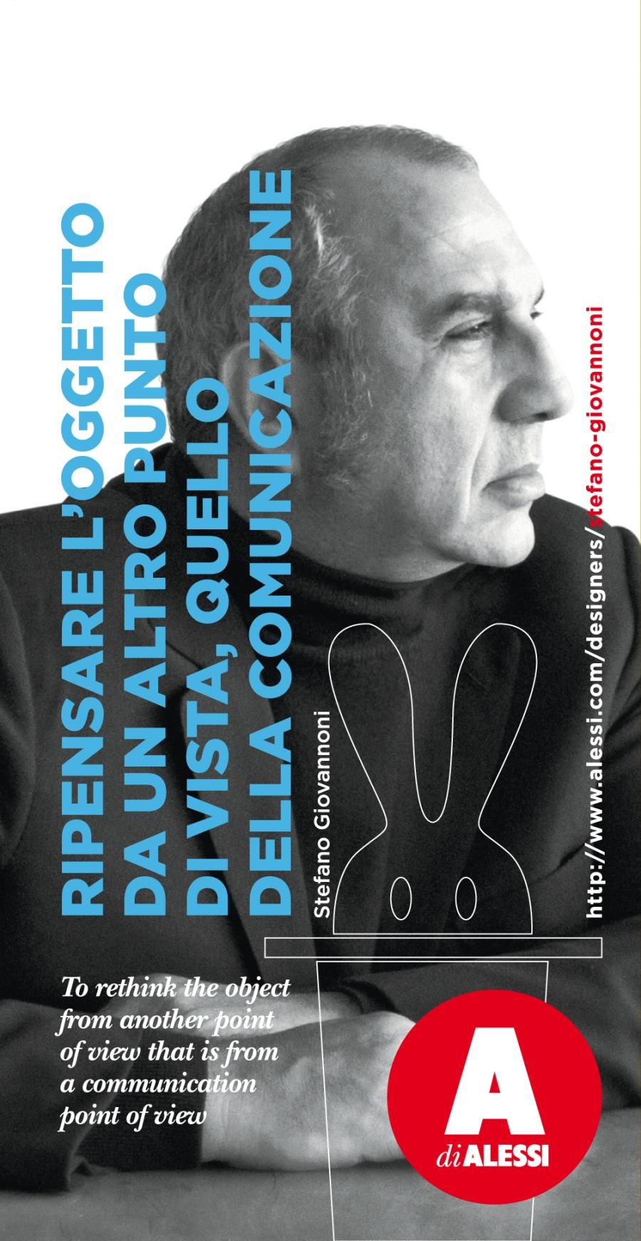 Stefano Giovannoni, designer. Credit Alessi