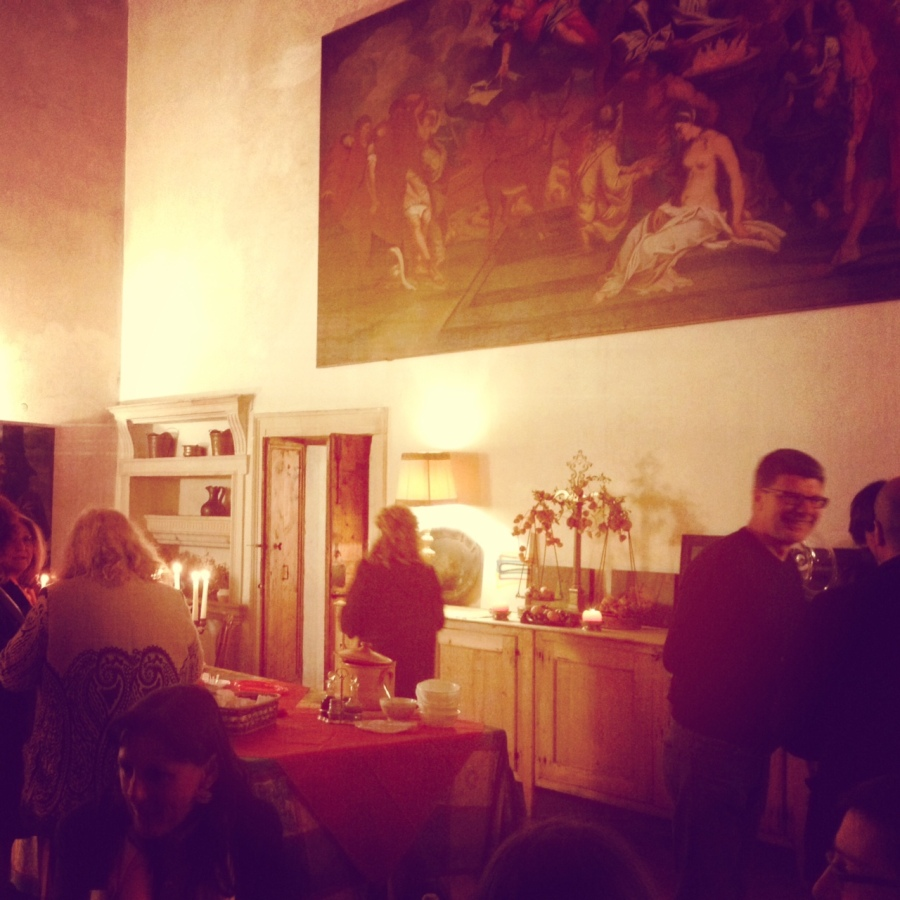 Poetry afterparty at Villa Pisani