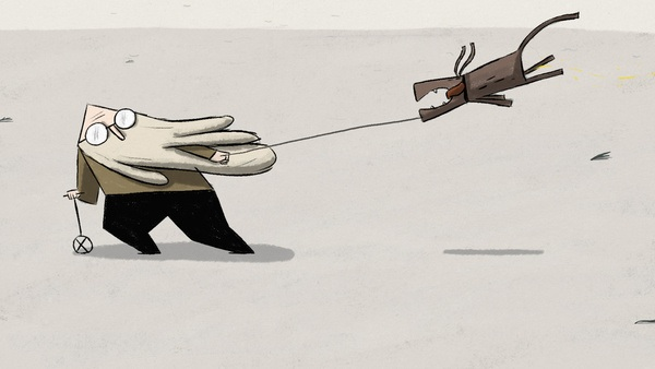 Wind, short film by Robert Loebel. A screenshot from the film